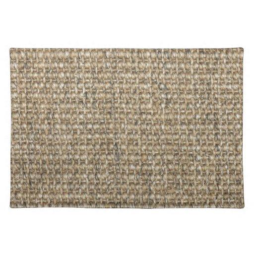 Burlap texture placemats