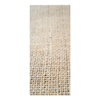 Burlap texture rack card