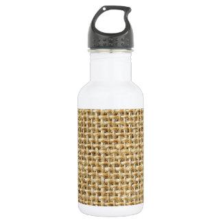 Burlap texture water bottle