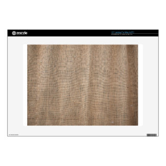 Burlap texture with thick and coarse thread decals for laptops