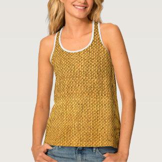 Burlap texture Women's All-Over Print Tank Top.