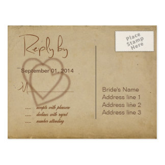 Burlap, Twigs and Twine RSVP ID132 Postcard