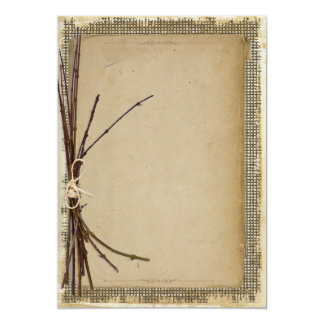 Blank rustic invitations announcements zazzle burlap twigs and twine template id132 stopboris Image collections