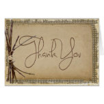 Burlap, Twigs and Twine Wedding Thank You Stationery Note Card