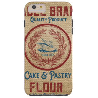 Burlap Vintage Cake Pastry Flour Sack Tough iPhone 6 Plus Case