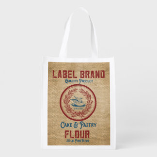 Burlap Vintage Cake Pastry Flour Sack Grocery Bag