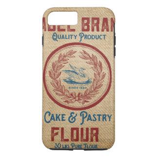 Burlap Vintage Cake Pastry Flour Sack iPhone 8 Plus/7 Plus Case