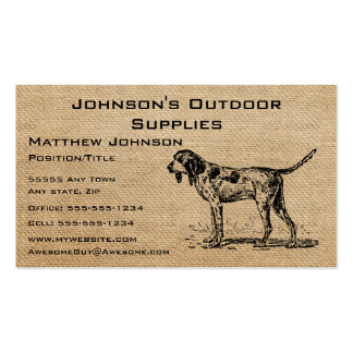 Burlap Vintage Hunting Dog Double-Sided Standard Business Cards (Pack Of 100)