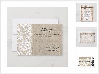 Burlap wedding sets