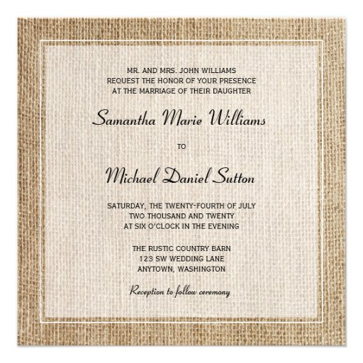Western Themed Wedding Invitations with nice invitations example