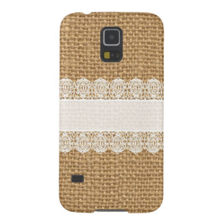 Burlap with Delicate Lace - Shabby Chic Style Galaxy S5 Cover