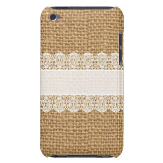 Burlap with Delicate Lace - Shabby Chic Style iPod Touch Case-Mate Case