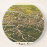 Burleigh's map of Stamford, Connecticut (1883) Drink Coaster