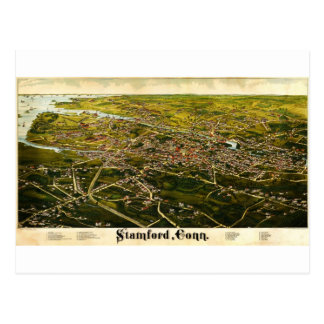 Burleigh's map of Stamford, Connecticut (1883) Postcard
