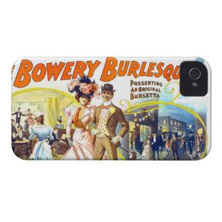 Burlesquers frondoso, caja de la casamata de Black Case-Mate iPhone 4 Carcasas