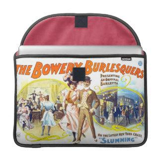 Burlesquers frondoso, manga de la aleta del carrit fundas para macbook pro