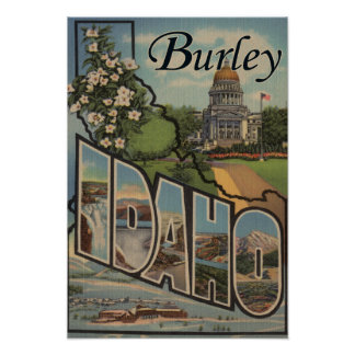 Burley, IdahoLarge Letter ScenesBurley, ID Poster