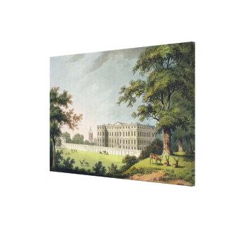 Burley, Rutlandshire (colour litho) Canvas Print