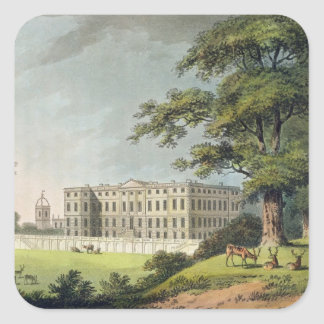 Burley, Rutlandshire (colour litho) Square Sticker