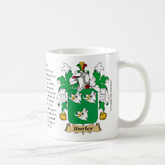 Burley, the Origin, the Meaning and the Crest Coffee Mug