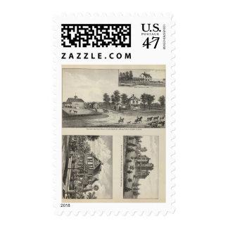 Burlington and Junction City, Kansas Postage