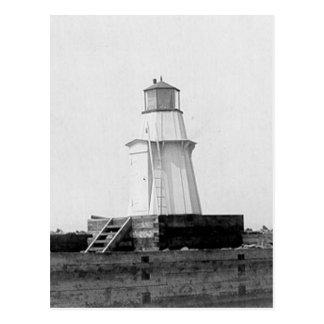 Burlington Breakwater North Lighthouse Postcard