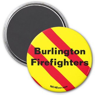 Burlington Firefighters Red/Yellow/Black magnet