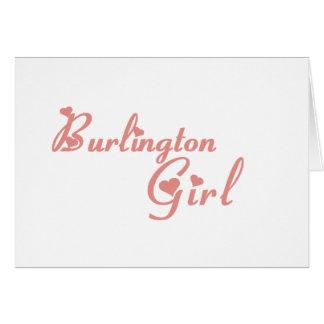 Burlington Girl tee shirts Greeting Card