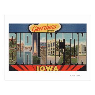 Burlington, Iowa - Large Letter Scenes 2 Postcards