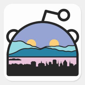 Burlington, logotipo sub del VT Reddit Pegatina Cuadrada