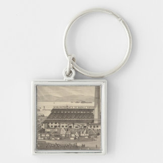 Burlington Manufacturing Co's Marble Works Keychain