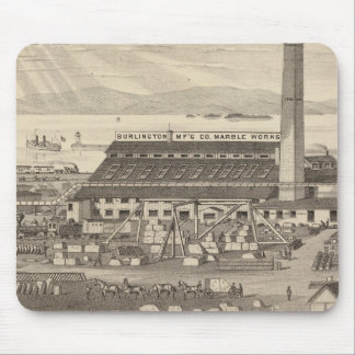 Burlington Manufacturing Co's Marble Works Mouse Pad
