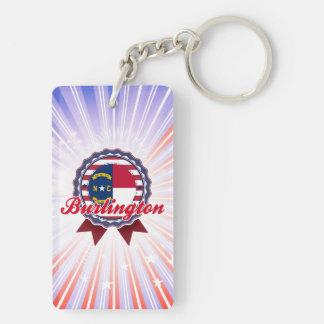 Burlington, NC Double-Sided Rectangular Acrylic Keychain