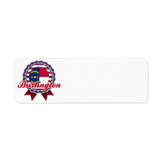 Burlington, NC Return Address Label