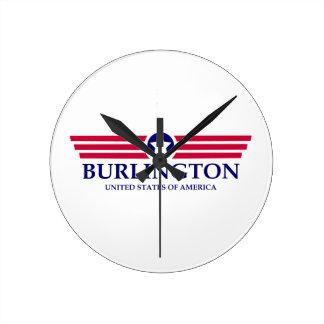 Burlington NC Pride Round Wall Clock