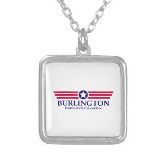 Burlington NC Pride Square Pendant Necklace