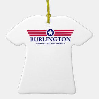 Burlington NC Pride Double-Sided T-Shirt Ceramic Christmas Ornament