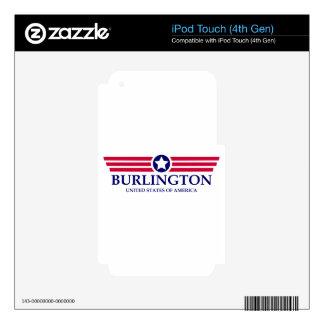Burlington NC Pride Skins For iPod Touch 4G