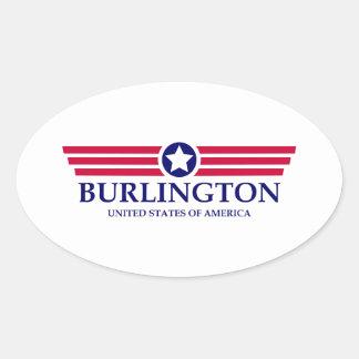 Burlington NC Pride Oval Sticker
