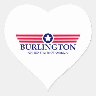 Burlington NC Pride Heart Sticker