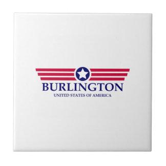 Burlington NC Pride Small Square Tile