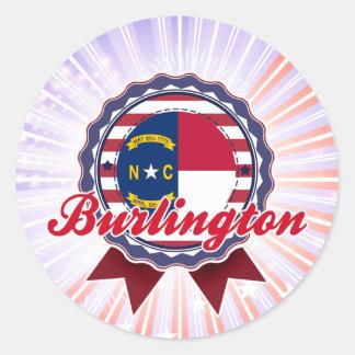 Burlington, NC Classic Round Sticker