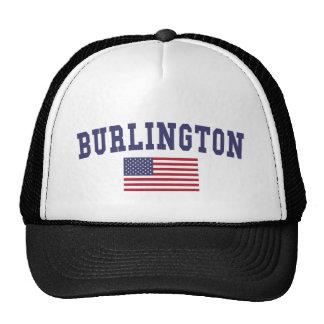 Burlington NC US Flag Trucker Hat
