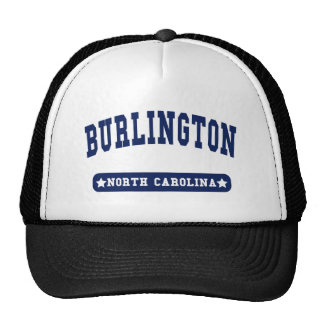 Burlington North Carolina College Style t shirts Trucker Hat