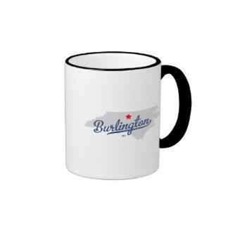 Burlington North Carolina NC Shirt Ringer Coffee Mug