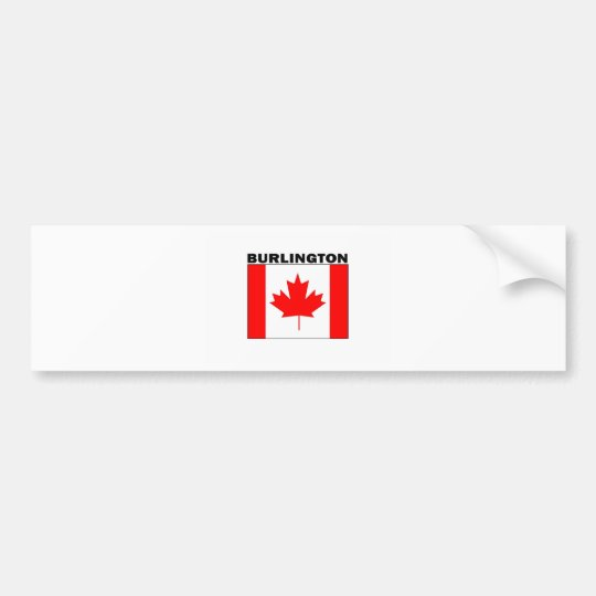 Burlington, Ontario Bumper Sticker