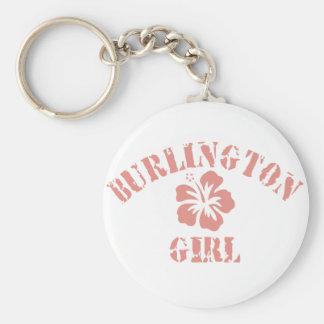 Burlington Pink Girl Keychain
