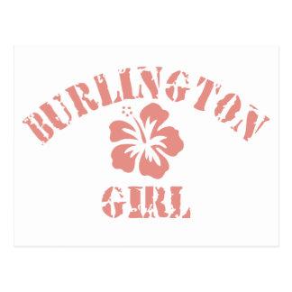 Burlington Pink Girl Postcard