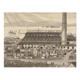 Burlington que fabrica los trabajos del mármol del tarjetas postales