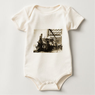Burlington Railroad Aurora Engine #139 1893 Baby Bodysuit